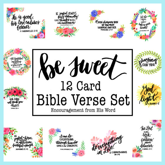 bible verse card set be sweet ink
