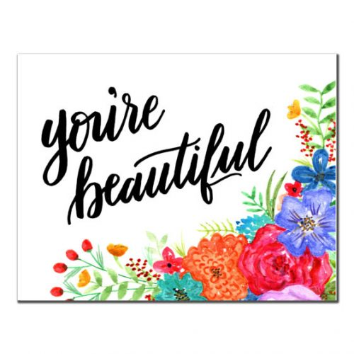 You're Beautiful Card