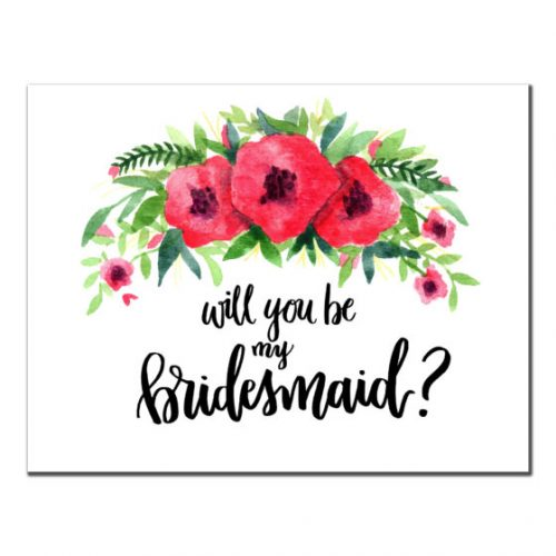 Red Flowers - Bridesmaid