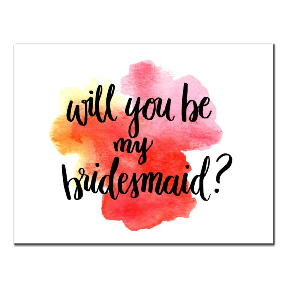Bridesmaid Splash