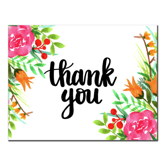Floral Corners Thank You - 3