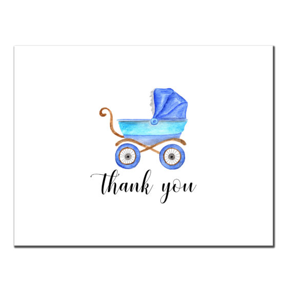 Thank You - Baby Boy Stroller