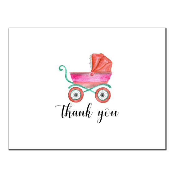 Thank You - Baby Girl Stroller