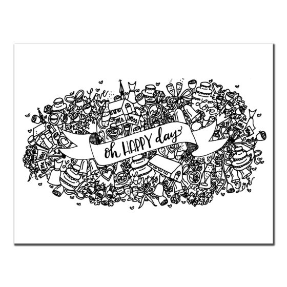 Oh Happy Day! Detailed Black and White Card