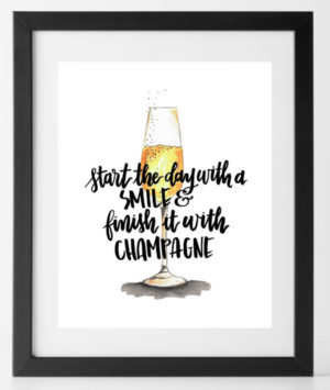 Finish with Champagne Print