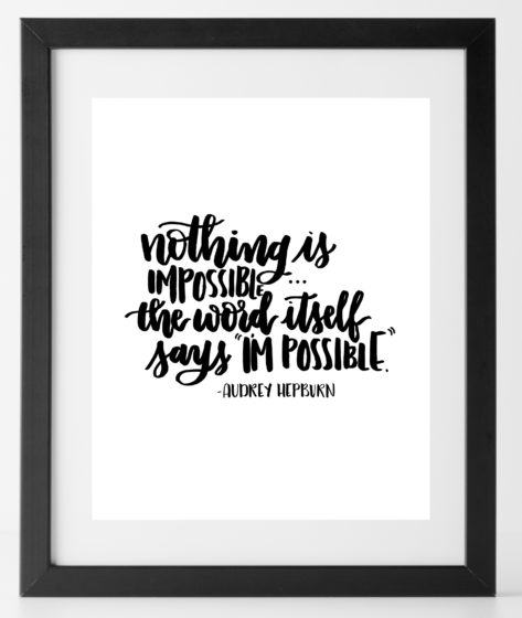 8x10 Audrey Hepburn Quote