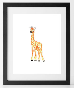 8x10 Baby Animal Giraffe
