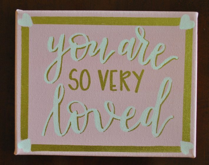 Baby girl-you are so very loved canvas