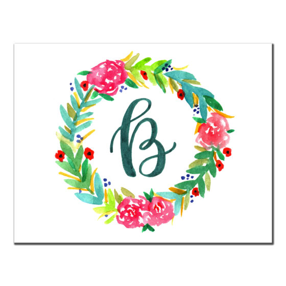 Wreath Custom Stationery Card
