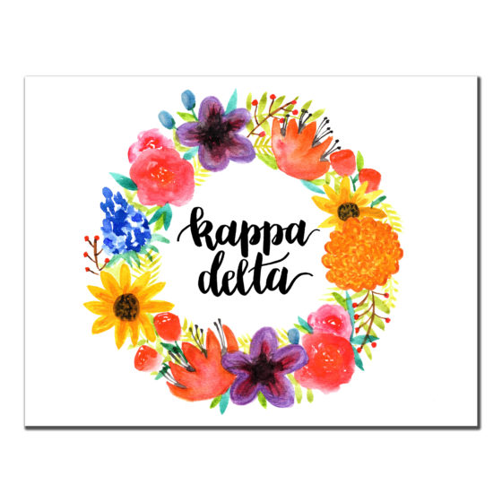 Kappa Delta Floral Cards Sorority