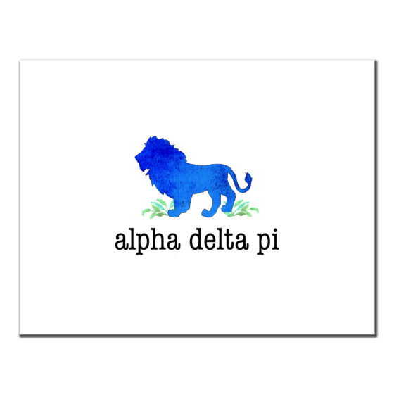 Alpha Delta Pi Lion Cards ADPi Mascot Sorority