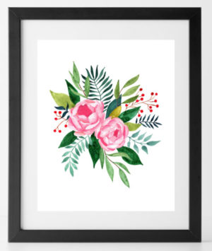 Roses Print Floral Flowers