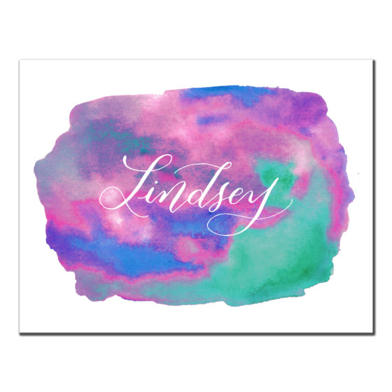 watercolor Splash Custom Card-2