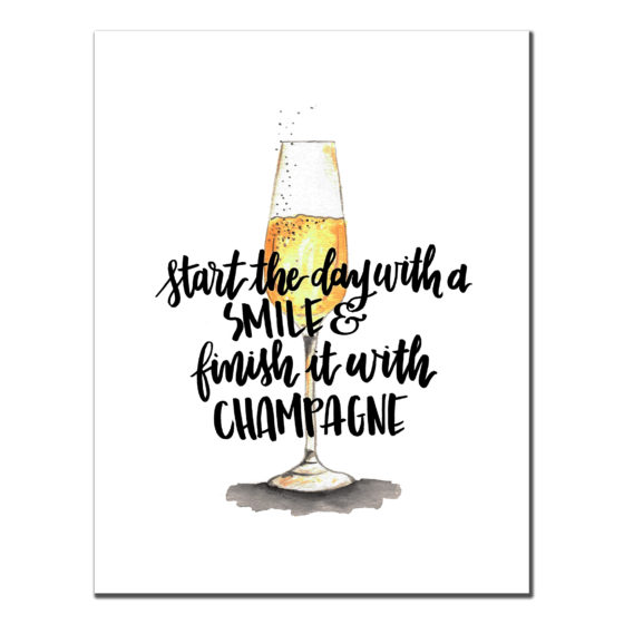 Start the day Champagne Card