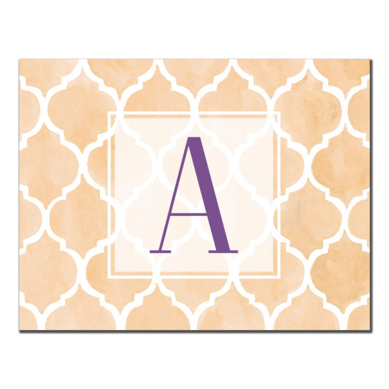 Tile Card- A Monogram Initial