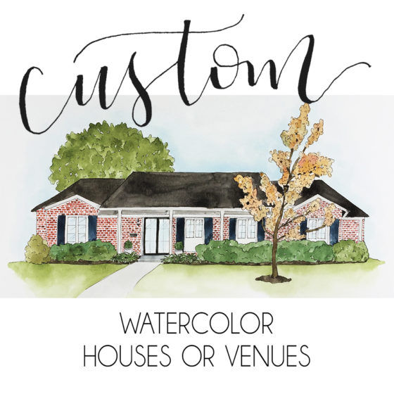 Watercolor Houses