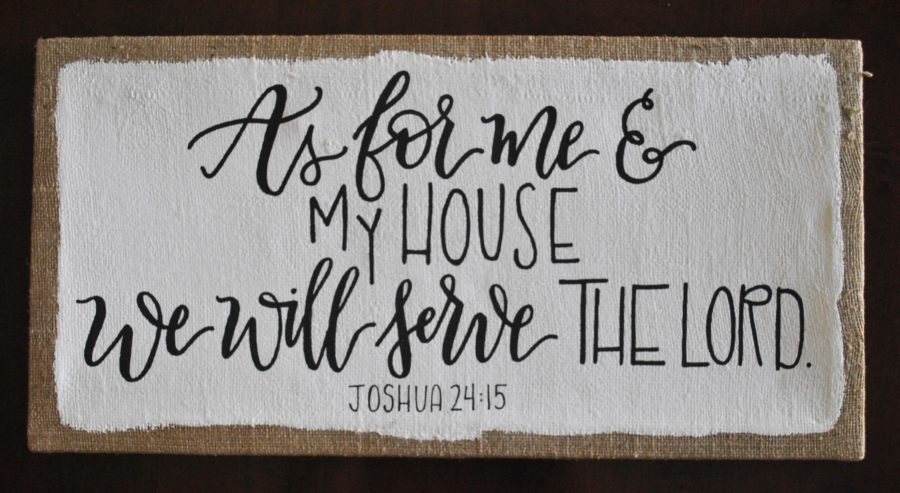 as for me and my house canvas burlap joshua 24:15