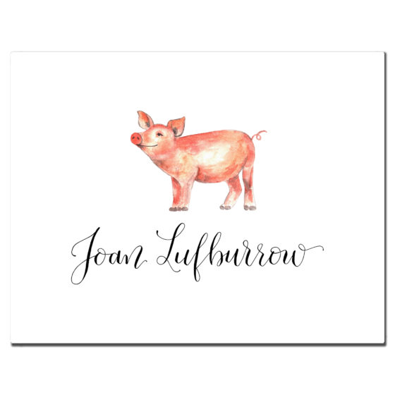 pig custom stationery