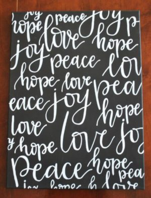 joyhopepeacelove joy hope peace love canvas painting
