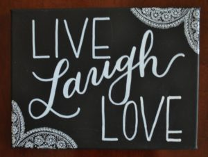 livelaughlove live laugh love canvas painting