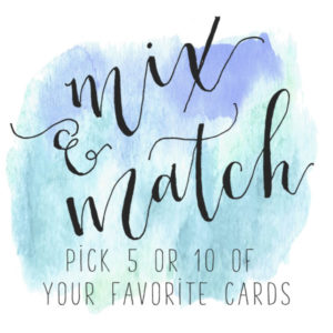 mix and match cards