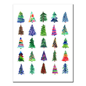 Christmas Trees-Colorful Card