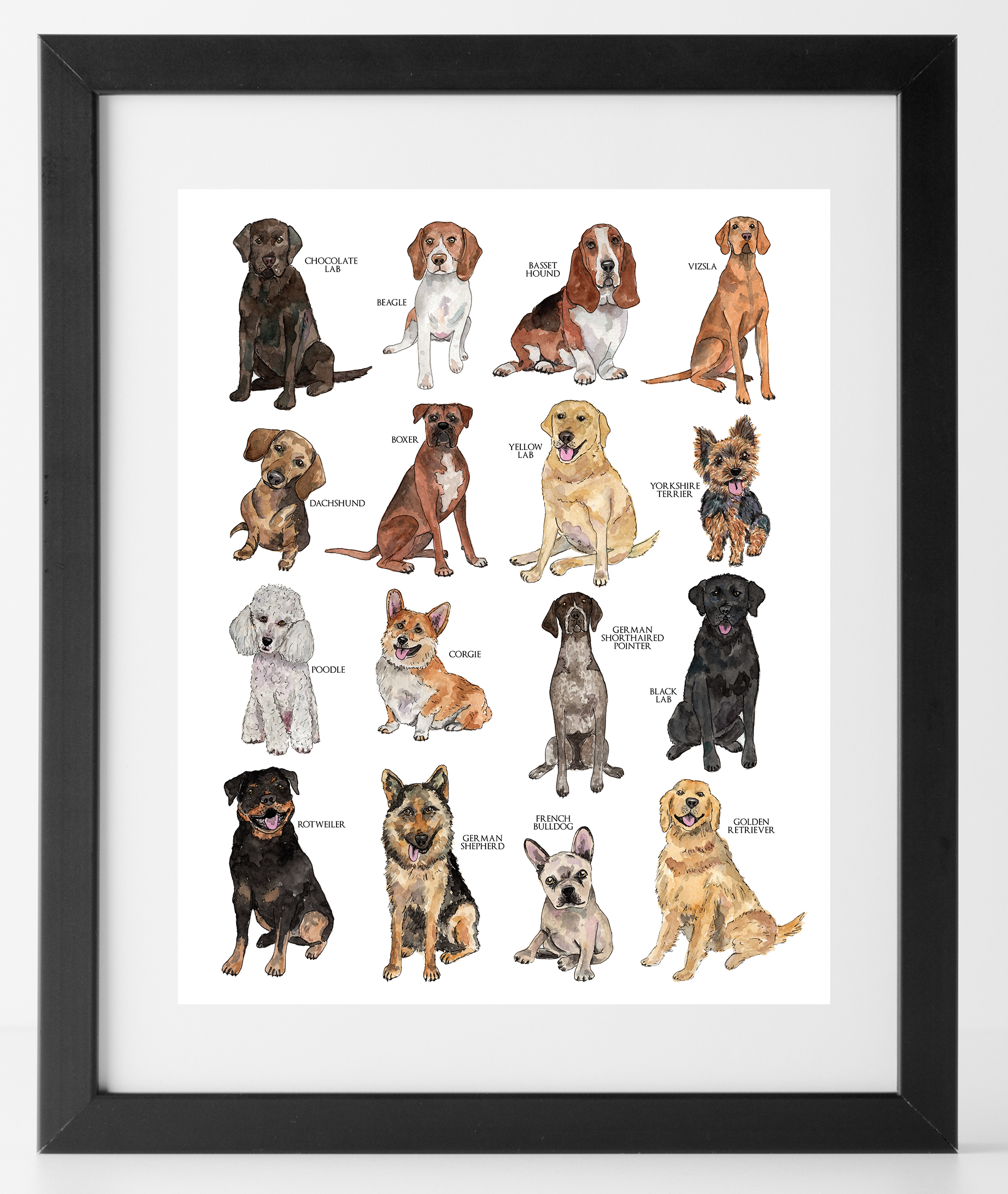 - Various Dogs Print - Be Sweet Ink